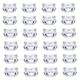 MFDSJ 5ml Transparent Cosmetic Containers, Diamond-Shape Cosmetic Pot Jars with Lids for Eye Shadow Lotion Cream Sample Storage, 32 Pcs