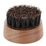 Wildschweinborsten Schnurrbartbürste, bequem zu greifende Bartbürsten für Pflege- und...