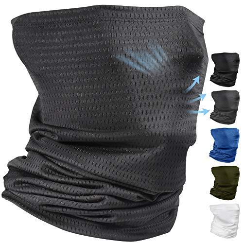 Comfortable Neck Gaiter Face Scarf Mask Balaclava for Men Summer Sun Dust Protection Running Fishing Breathable Gaiter Neck Bandana Face Mask Gray