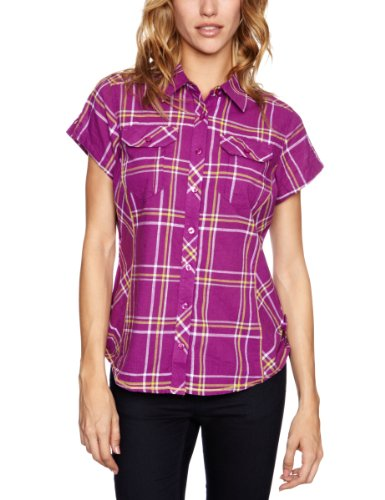 Columbia Camp Henry Chemise à Manches Courtes pour Femme Rose Berry Jam Small