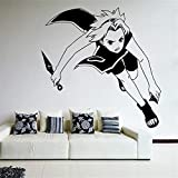 yaonuli Etiqueta de la Pared del Vinilo de la Pared de la Historieta Etiqueta de la Pared de la habitación de los niños de Anime Ninja 36X44cm