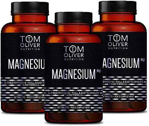 Tom Oliver Nutrition - Magnesium Taurate - 600mg per Capsule (60 Capsules) 1 a Day Formula (1)