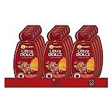 Garnier Multi Pack Ultra Dolce Shampoo Olio di Argan e Mirtillo Rosso per Capelli Colorati, 300 ml, Confezione da 12