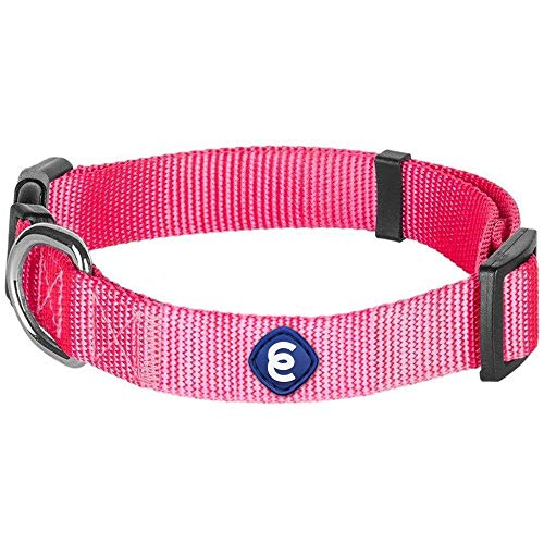 Blueberry Pet Essentials 21 Colors Classic Dog Collar, French Pink, Small, Neck 12'-16', Nylon Collars for Dogs