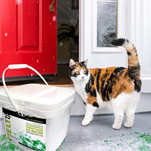 Snow Joe AZ-25-EB-BKT Melt-2-Go Nature + Pet Friendly CMA Blended Ice Melter