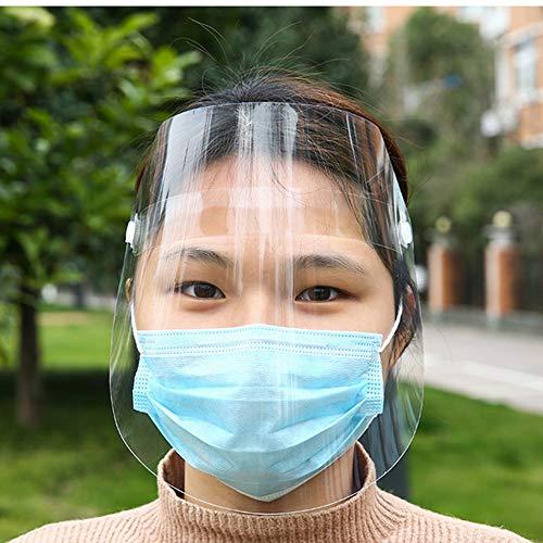 Lumiereholic Gesichtsschutzschirm Augenschutz Vollgesichtsschutz Visier Anti-Öl Splash klar Schutzmaske Gesichtsschutz Visier Anti-Fog Anti-Spray Anti-Staub-Schutzmaske
