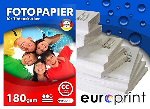 Fotopapier 180g DIN A3+ A3 plus 50 Blatt Hochglanz Cast Coated Wasserfest TOP