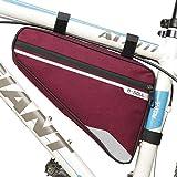 VOANZO Bolsa para bastidor de almacenamiento de bicicleta, bolsa de triángulo para bicicleta impermeable Bolsa de silla de gran capacidad para ciclismo de montaña de carretera 290 x 200 x 50 mm (rojo)