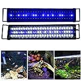 Aquarien Eco Aquarium Light <span class='highlight'>Fish</span> Tank LED Hood Lighting with Daylight and Nightlight Mode Fits 75-97cm / 30-38