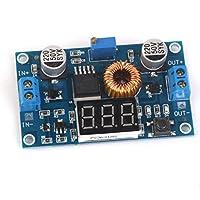 ノーブランド品  2個入り 5A 75W DC-DC 調整可能 降圧 コンバータ 電源モジュール 電圧計