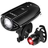 Rechargeable LED Bike Light Set, iSolem 3-Mode Bicycle Headlight and Taillight...