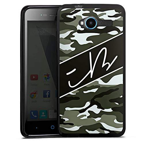 DeinDesign Silikon Hülle kompatibel mit ZTE Blade L3 Case schwarz Handyhülle iBlali Camouflage YouTube