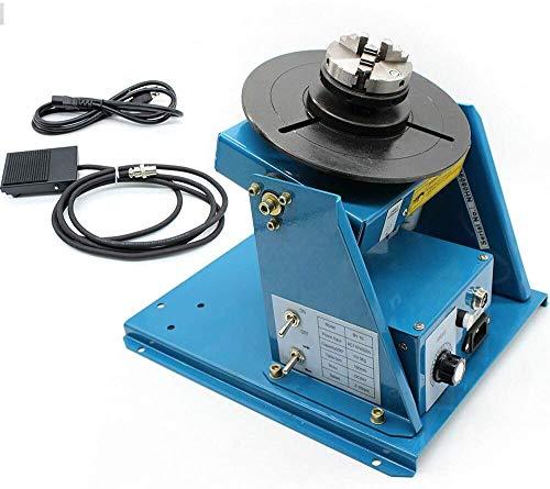 Rotary Welding Positioner 110V 2.5' Worktable Welder Positioner Turntable Machine Speed High Accuracy Welding Positioner For Annular Weld