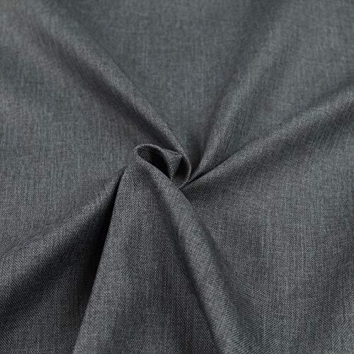 Generico Tessuto Idrorepellente al Mezzo Metro - Stoffa ANTIMACCHIA in Poliestere - Sabri Canvas - Morbido e Resistente - Altezza 140 cm - 1 QTA = 50 cm - 22 Colori (Grigio 13)