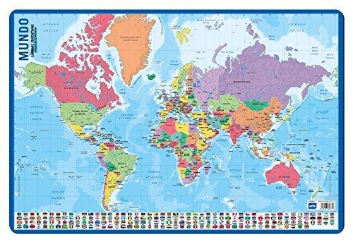 Grupo Erik Editores Lamina Educativa Mapa Del Mundo