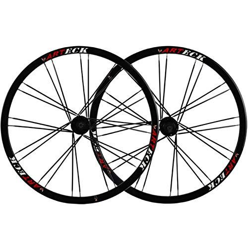 TYXTYX Ejes de liberación rápida Accesorio para Bicicleta Juego de Ruedas para Bicicleta 26 Pulgadas MTB Freno de Disco Rueda de Bicicleta 24 radios para 7-10 velocidades Cassette Flywheel QR 2342g