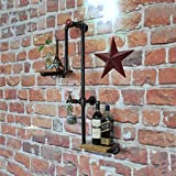 CAIJINJIN estante del vino Estante del vino, tubería de hierro forjado altillo...
