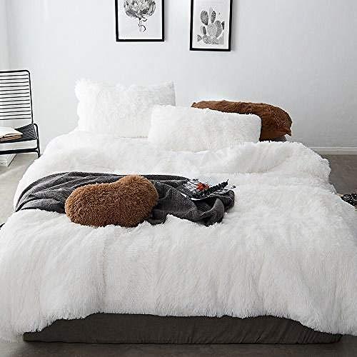 TYDH 43Thick Fleece Bedding Set Mink Velvet Duvet Cover Bed Linen Fitted Sheet Pillowcases 1 Fitted Sheet Style King Size 5pcs