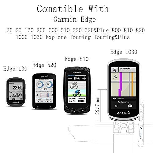 TedKat Out Front Combo Fahrradhalterung für Garmin Edge 200, 500, 510, 520, 800, 810, 820, 1000 und Gopro Kamera (Garmin Mount 2) - 4