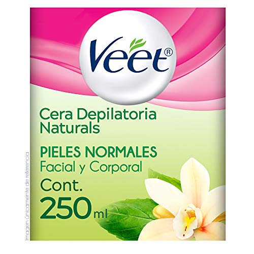 Veet Naturals Cera depilatoria para Piel Normal tarro de 250 ml
