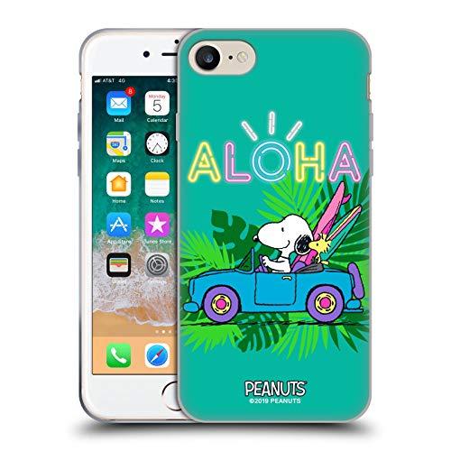 Head Case Designs Oficial Peanuts Surf Tropical Snoopy Aloha Disco Carcasa de Gel de Silicona Compatible con Apple iPhone 7 / iPhone 8 / iPhone SE 2020