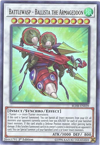Yu-Gi-Oh! - Battlewasp - Ballista The Armageddon - BLHR-EN039 - Ultra Rare - 1st Edition - Battles of Legend: Hero