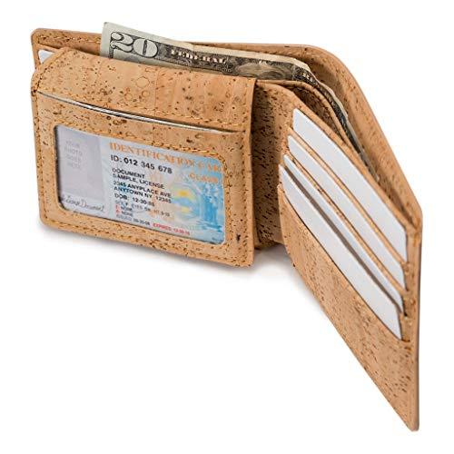 Corkor Portemonnaie aus Kork, vegan, ohne Tierversuche hergestellt -  Braun -  Small