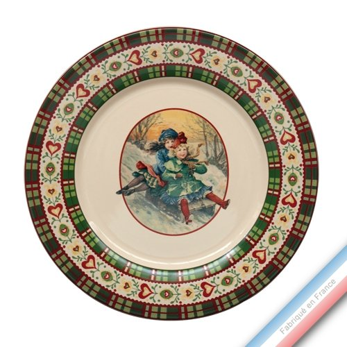 Niderviller 1735 Collection Saint PETERSBOURG - Assiette Plate - Diam 27 cm - Lot de 4