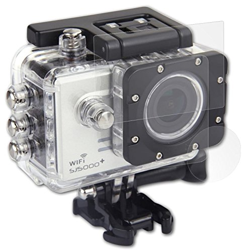atFoliX Panzerfolie kompatibel mit SJCAM (QUMOX) SJ5000 Plus Schutzfolie, entspiegelnde und stoßdämpfende FX Folie (3er Set)