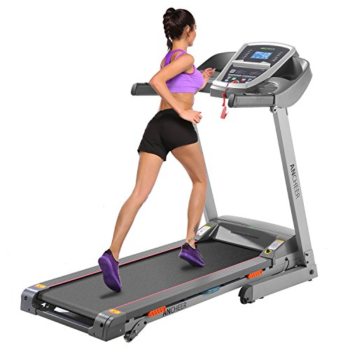 ANCHEER Folding Treadmill Machine for...