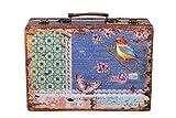 Sarah B Truhe Kiste KD 1290 Koffer, Kofferset, Holztruhe mit edlem Leder bezogen