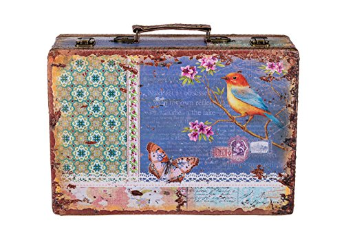 Sarah B Truhe Kiste KD 1290 Koffer, Kofferset, Holztruhe mit edlem Leder bezogen XL 36cm