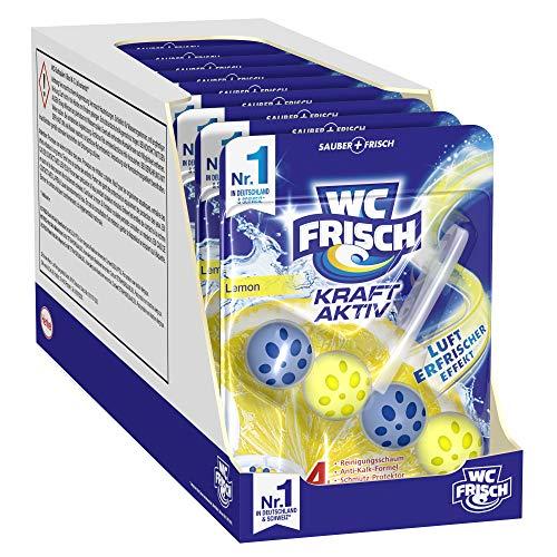 WC-Frisch Kraft Aktiv Duftspüler Lemon, WC Reiniger, 10 Stück, mit Lufterfrischer Effekt für einen frischen Toilettenduft