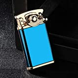 Retro Rocker Cigar Cigarette Jet Torch Refillable Butane Lighter in Blue