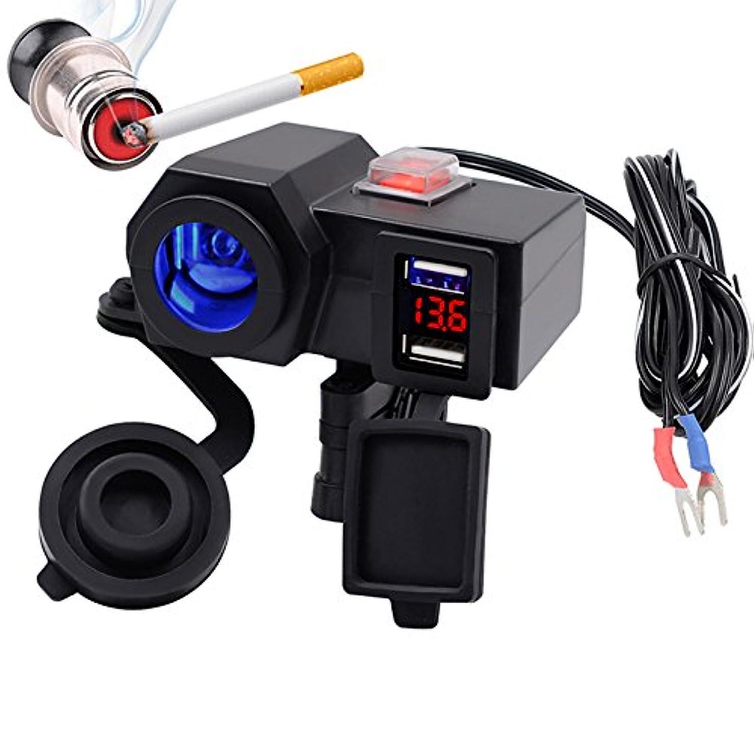 診療所油買収RETYLY 充電器+デジタル5V 4.2Aデュアル充電器シガレットライターUSB車のアダプター12Vオートバイ用オート多機能