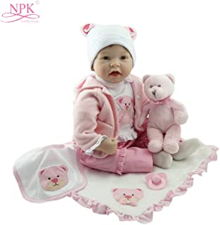 Docooler 22in Reborn Baby Rebirth Doll Kids Gift Cloth Material Body