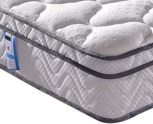Vesgantti Matratze 100x200 7-Zonen Federkernmatratze Taschenfederkernmatratze Mittelfeste Orthopädischem Tonnentaschenfederkernmatratze (H3, Box-top 26cm)