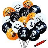 100Pcs Decorazioni di Palloncini di Halloween, Zucca Pipistrello Design Palloncini in Lattice per Decorazioni di Halloween per Feste