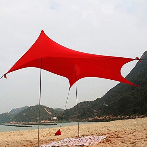 Tienda De Playa con Ancla De Saco De Arena, Toldo De Playa De Tela De Lycra Toldo De Tienda De Playa