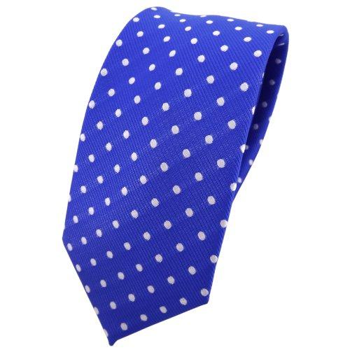 TigerTie - corbata estrecha - azul ultramarinazul plata lunares