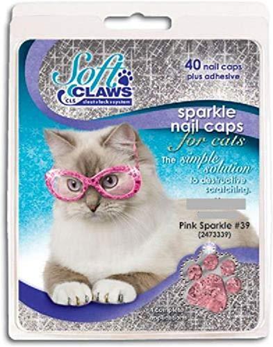 Soft Claws Pour chats, taille L, couleur rose pailleté.
