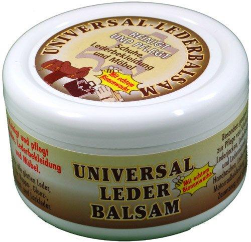Universal Lederbalsam 250ml mit echtem Bienenwachs zur Pflege und Reinigung von Zaumzeug Sättel Schuhe Lederbekleidung Möbel Handtaschen, farblos