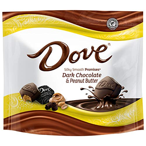 DOVE PROMISES Peanut Butter Dark Chocolate Candy 761Ounce Bag Pack of 8