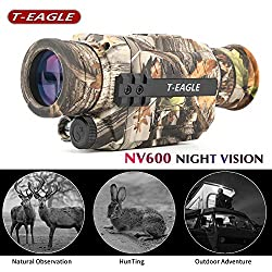 T-EAGLE Night Vision Monocular?Camouflage Infrared Camera 8X35 HD Digital Scope with 1.5 inch TFT LCD Take Photos and Video Playback Function and TF Card for Night Watching or Observation