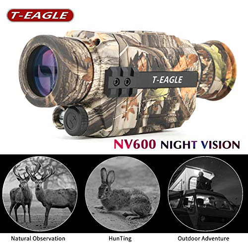 T-EAGLE Night Vision Monocular,Camouflage Infrared Camera 8X35 HD Digital Scope with 1.5 inch TFT LCD Take Photos and Video Playback Function and TF Card for Night Watching or Observation