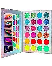 24 Color Glow Eyeshadow Palette, UV Blacklight Luminous sterk gepigmenteerde oogschaduw pallet, Glow in the Dark Eyeshadow Palette Halloween make-up kit