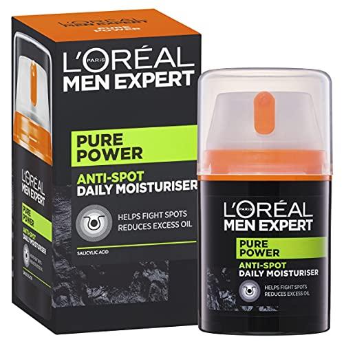 L'Oreal Paris Crema Anti Imperfecciones Acno Fight Hombre Men Expert, 50 ml