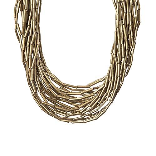Gargantilla con cuentas tubulares Masai Oro Sodini