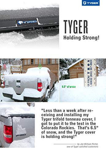 Tyger Auto T3 Soft Tri-Fold Truck Bed Tonneau Cover Compatible with 2009-2018 Dodge Ram 1500 | 2019-2022 Classic Only | Fleetside 5'7