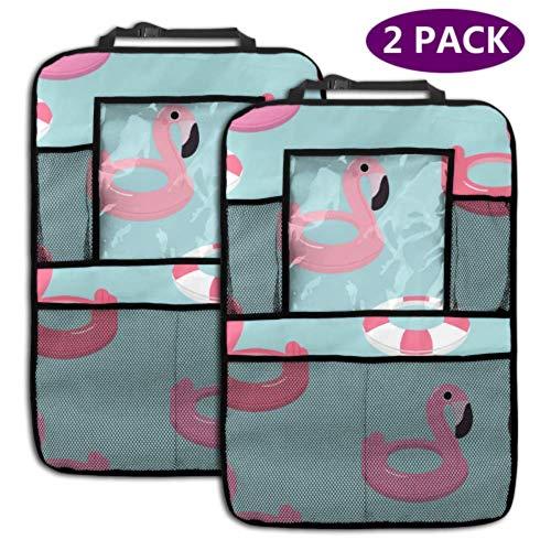 Rücksitz Auto Organizer Flamingo Schwimmring Muster 4 Aufbewahrungstaschen Rücksitz Organizer Autositz Organizer Reisezubehör (2er Pack)